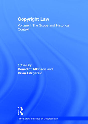 Copyright Law Volume I: The Scope and Historical Context book cover