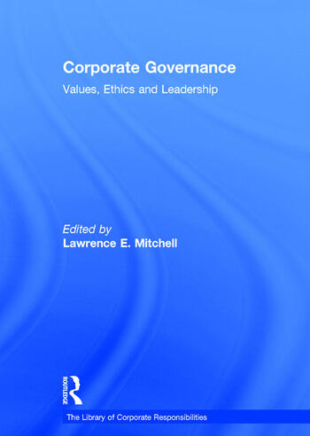 Corporate Governance Values, Ethics and Leadership book cover