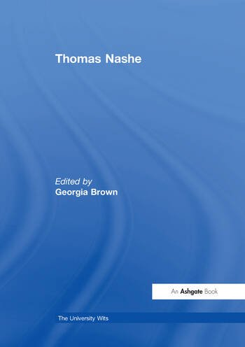 Thomas Nashe book cover