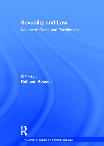 Sexuality and Law Volume II: Crime and Punishment book cover