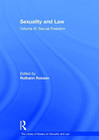 Sexuality and Law Volume III: Sexual Freedom book cover