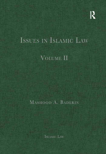 Issues in Islamic Law Volume II book cover