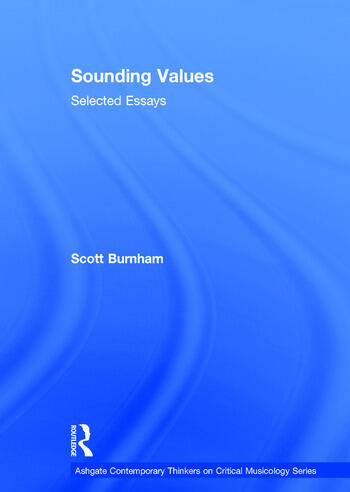 Sounding Values Selected Essays book cover