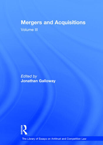 Mergers and Acquisitions Volume III book cover
