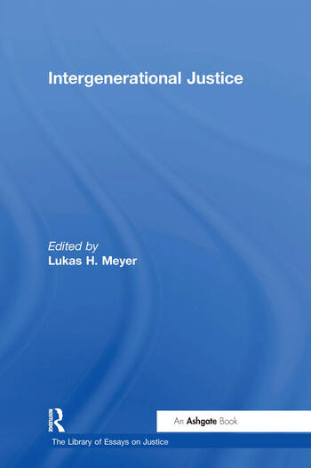 Intergenerational Justice book cover