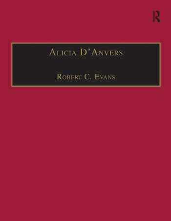 Alicia D'Anvers Printed Writings 1641–1700: Series II, Part Two, Volume 2 book cover