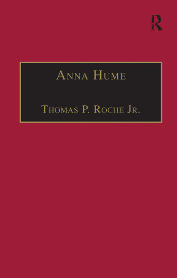 Anna Hume Printed Writings 1641–1700: Series II, Part Three, Volume 8 book cover