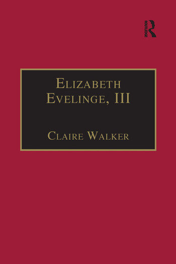 Elizabeth Evelinge, III Printed Writings 1500–1640: Series I, Part Four, Volume 1 book cover