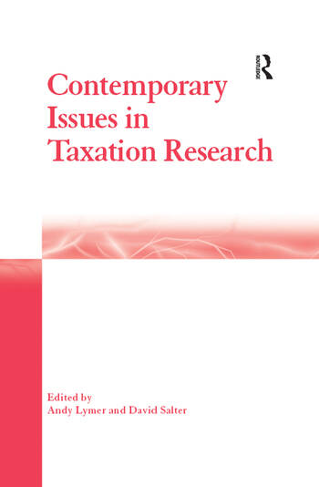 Contemporary Issues in Taxation Research book cover