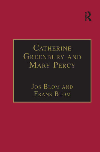 Catherine Greenbury and Mary Percy Printed Writings 1500–1640: Series 1, Part Four, Volume 2 book cover
