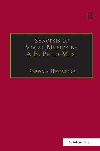 Synopsis of Vocal Musick by A.B. Philo-Mus. book cover