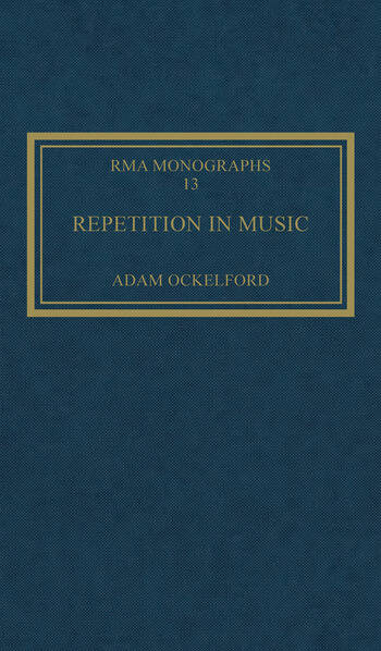 Repetition in Music Theoretical and Metatheoretical Perspectives book cover