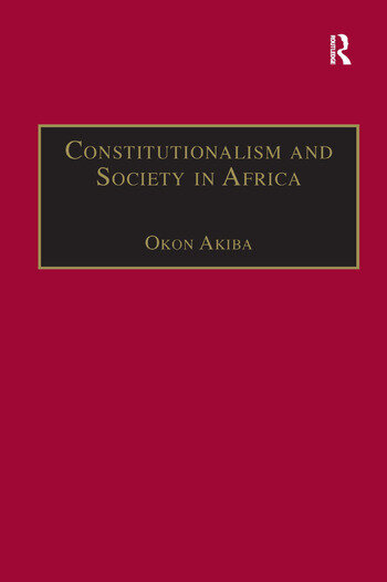 Constitutionalism and Society in Africa book cover