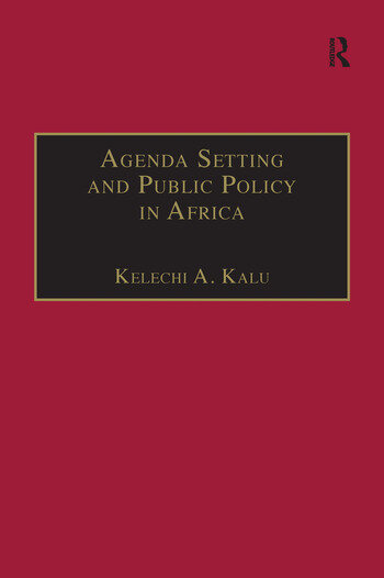 Agenda Setting and Public Policy in Africa book cover