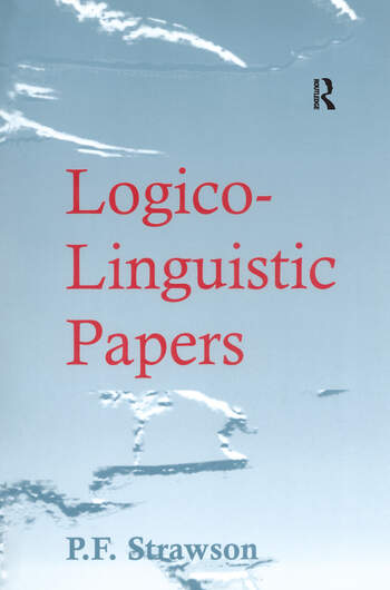 Logico-Linguistic Papers book cover