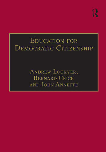 Education for Democratic Citizenship Issues of Theory and Practice book cover