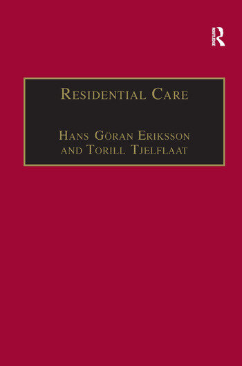 Residential Care Horizons for the New Century book cover