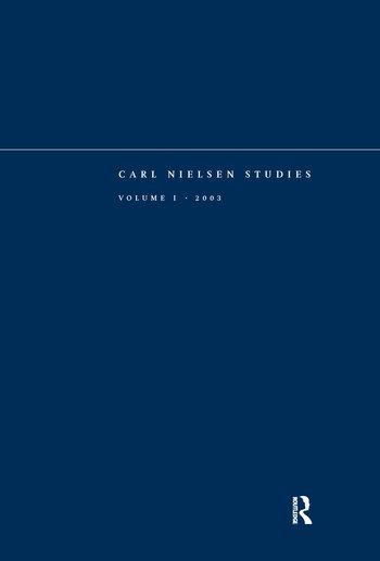 Carl Nielsen Studies Volume 1 book cover