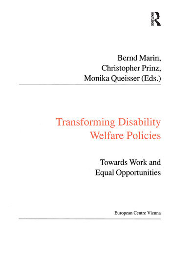 Transforming Disability Welfare Policies Towards Work and Equal Opportunities book cover