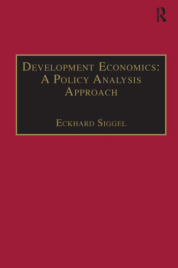 Development Economics: A Policy Analysis Approach book cover