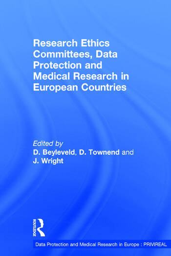 Research Ethics Committees, Data Protection and Medical Research in European Countries book cover