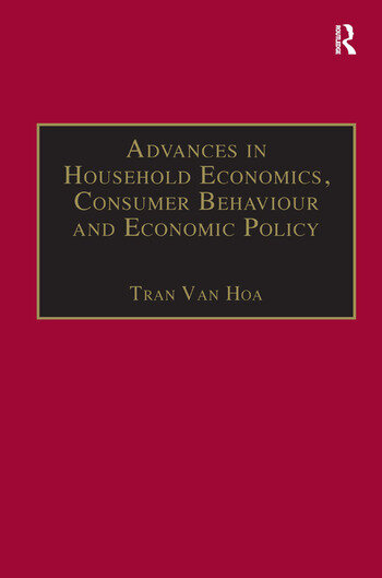 Advances in Household Economics, Consumer Behaviour and Economic Policy book cover