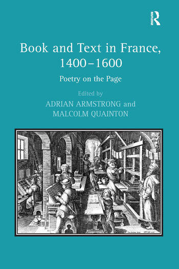 Book and Text in France, 1400–1600 Poetry on the Page book cover