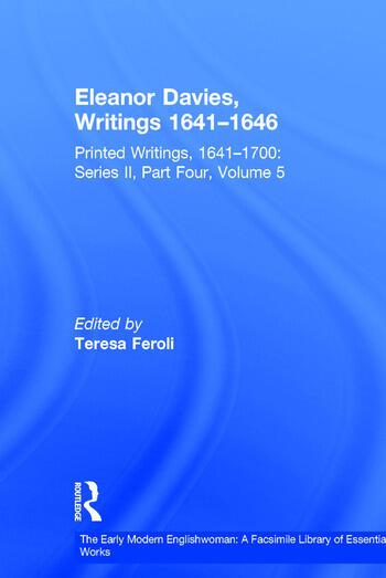 Eleanor Davies, Writings 1641–1646 Printed Writings, 1641–1700: Series II, Part Four, Volume 5 book cover