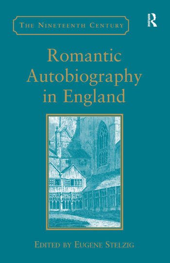 Romantic Autobiography in England book cover