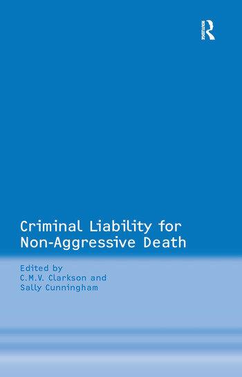 Criminal Liability for Non-Aggressive Death book cover