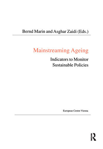 Mainstreaming Ageing Indicators to Monitor Sustainable Progress and Policies book cover
