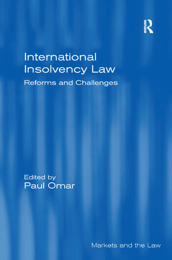 International Insolvency Law Reforms and Challenges book cover