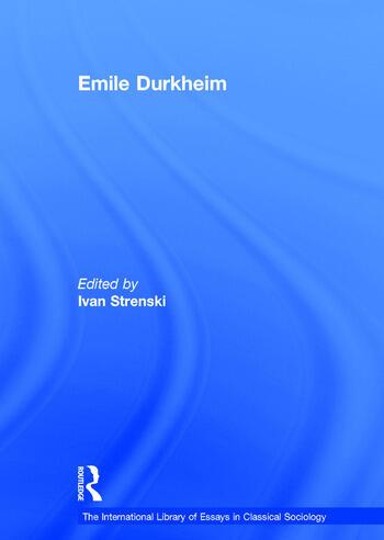 Emile Durkheim book cover