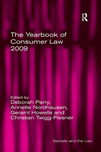 The Yearbook of Consumer Law 2009 book cover