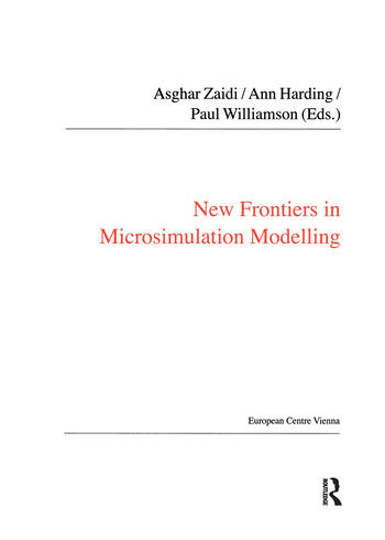 New Frontiers in Microsimulation Modelling book cover