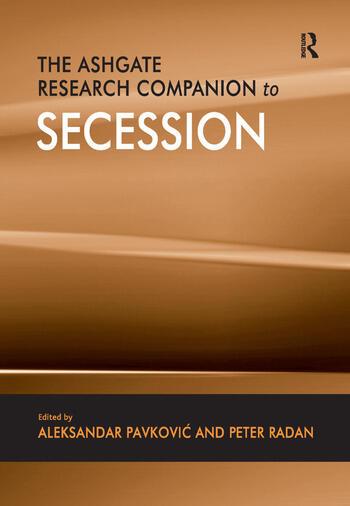 The Ashgate Research Companion to Secession book cover