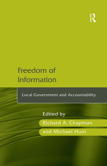 Freedom of Information Local Government and Accountability book cover
