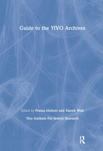 Guide to the YIVO Archives book cover