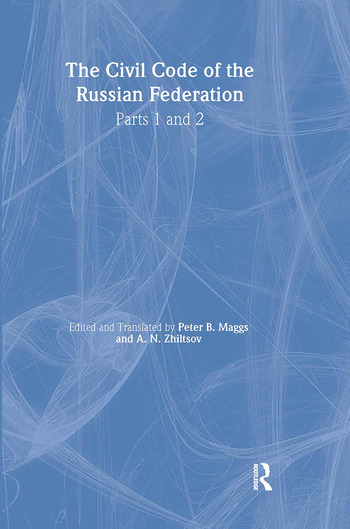 The Civil Code of the Russian Federation Parts 1 and 2 book cover