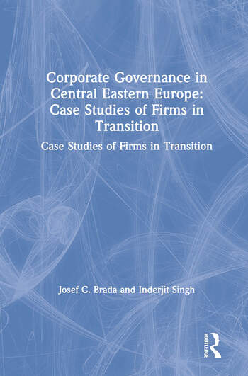 Corporate Governance in Central Eastern Europe: Case Studies of Firms in Transition Case Studies of Firms in Transition book cover