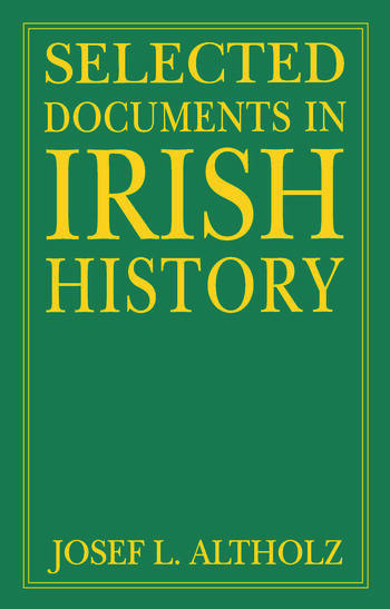 Selected Documents in Irish History book cover