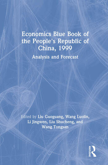 Economics Blue Book of the People's Republic of China, 1999 book cover