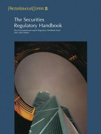 The Securities Regulatory Handbook 2000-2001 book cover