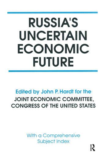 Russia's Uncertain Economic Future book cover