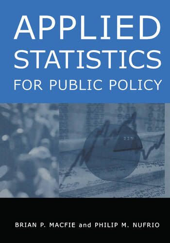 Applied Statistics for Public Policy book cover