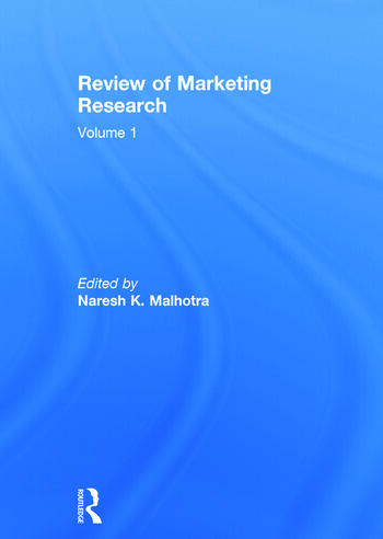 Review of Marketing Research Volume 1 book cover