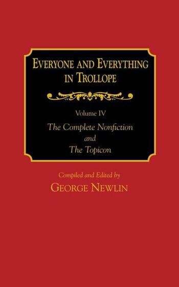 Everyone and Everything in Trollope: v. 1-4 book cover