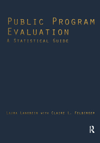 Public Program Evaluation A Statistical Guide book cover