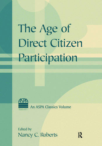 The Age of Direct Citizen Participation book cover