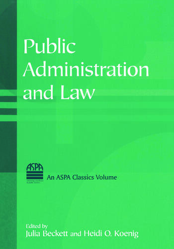 Public Administration and Law book cover
